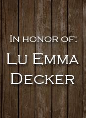 Lu Emma Decker